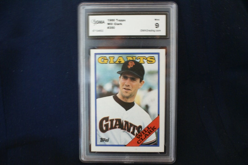 Will Clark 1988 Topps Baseball Card 350 Rated 9