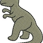 Mini T Rex embroidery designs 4 sizes