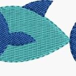 Mini Fish embroidery designs 4 sizes