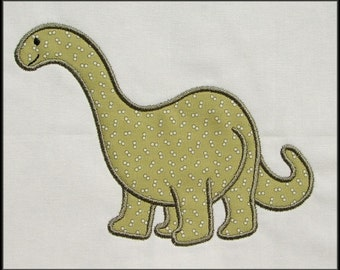 INSTANT DOWNLOAD Apatosaurus Applique and Fill designs