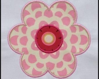 INSTANT DOWNLOAD Pretty flower applique designs