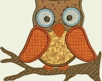 INSTANT DOWNLOAD owls Applique set designs 5x7 hoop