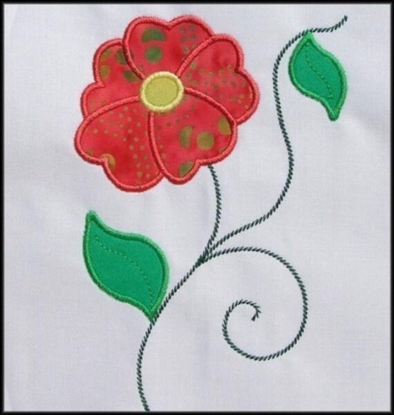 Instant Download Fleur D Amour Applique Designs 3 Sizes Etsy