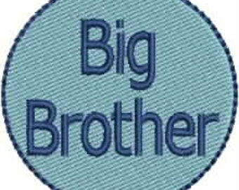 Mini Big Brother Little Brother embroidery designs INSTANT DOWNLOAD