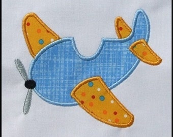 INSTANT DOWNLOAD Airplane Applique designs 3 sizes