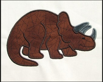 Triceratops Applique and Fill machine embroidery designs