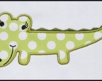 INSTANT DOWNLOAD Miss Crocodile applique designs