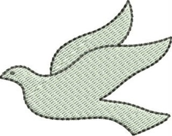 Mini Dove embroidery designs 4 sizes