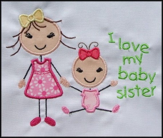 Instant Download Stick Figures I Love My Big Sister I Love My Etsy