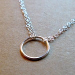 Sterling Silver smooth medium big tiny large double chain necklace karma eternity harmony chain pendant charm