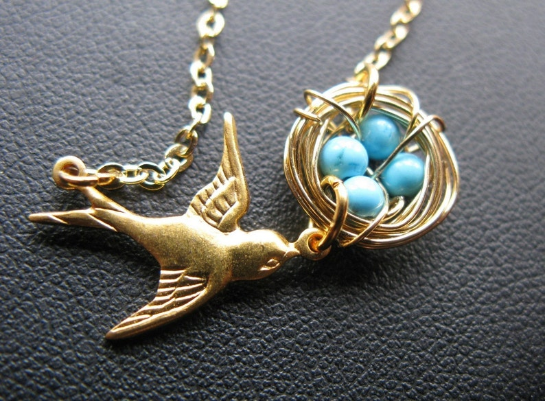 Mothers love necklace gold edition mommy mothers day turquoise image 0