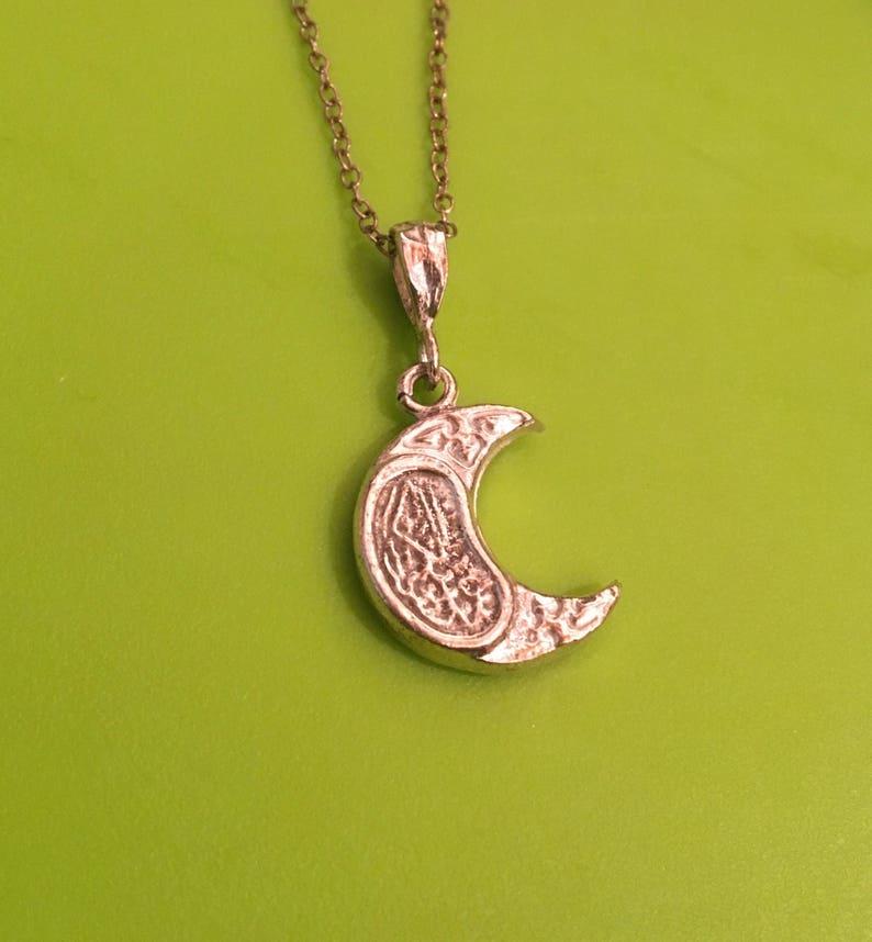 God is one Allah calligraphy eid Muslim Islamic faith necklace image 0