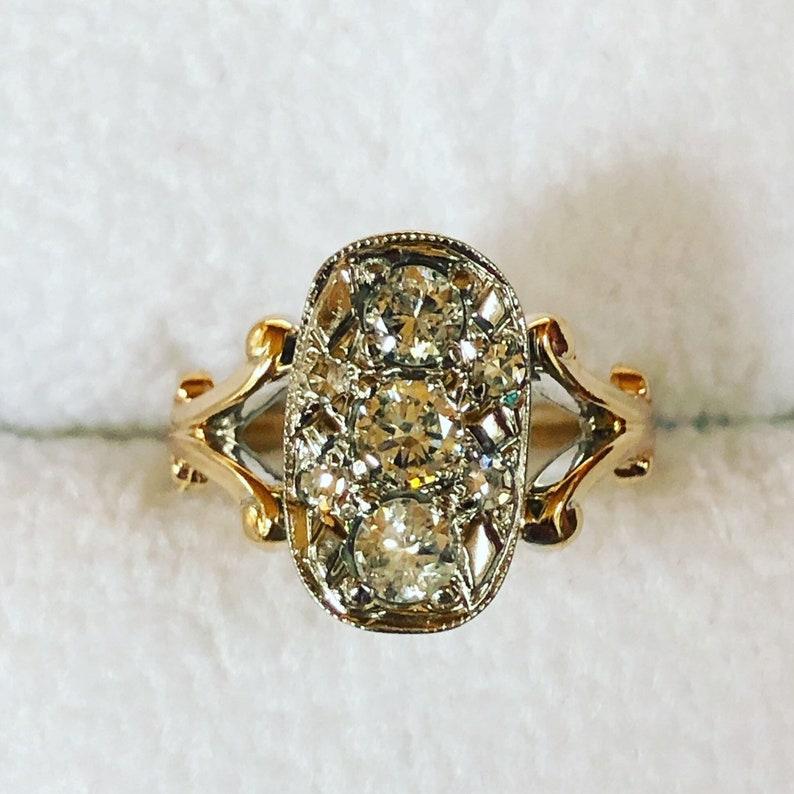 Diamond .96 carat trio journey diamond engagement ring promise image 0