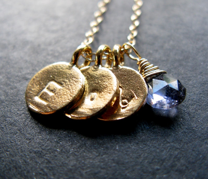 Totally You 24K Gold vermeil disc trio necklace with image 0