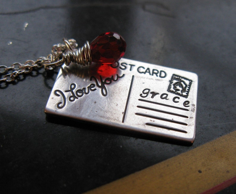 Distance Makes the Heart Fond Silver vintage oxidized i love image 0