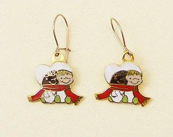 Vintage Aviva Snow Babies Earrings 57-2