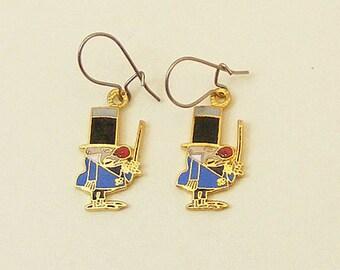 Wizard of Id Vintage Enamel Earrings Larsen E. Pettifogger 61-2
