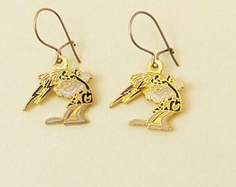 Wizard of Id Vintage Enamel Earrings Wizard 65-2