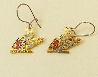 Wizard of Id Vintage Enamel Earrings Rodney the Chicken-Hearted 63-2