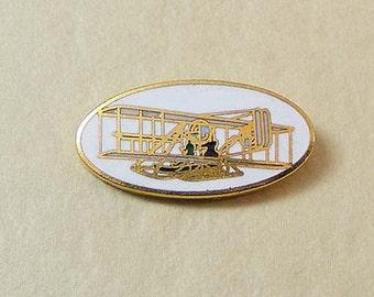 Vintage Aviva Scatter Pin  Lapel Pin Clutch Pin Plane / Glider  Enamel Cloisonne Small Tie Tack 13-4