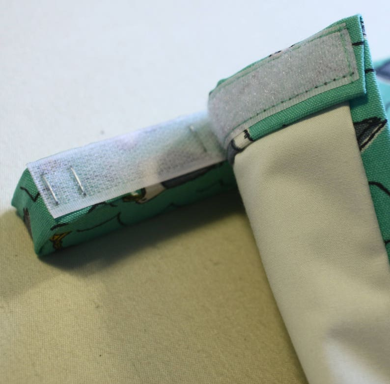 White 20mm sew-on hook and sticky loop touch and close velcro fastener for roman blinds