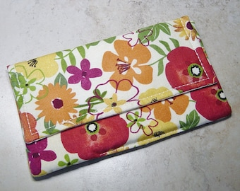 Coupon 0rganizer - Receipt Organizer - Floral Fabric Coupon Wallet - Organizer with Divider Cards - Gift for Mom - Shoppers Gift