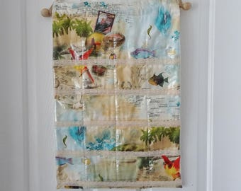 Fabric wall pocket Etsy