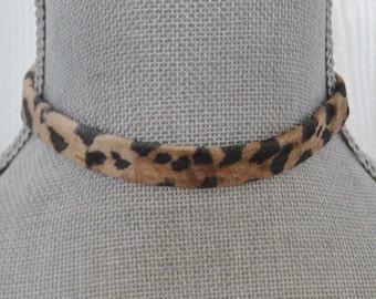 59df3dee8fc Leopard Print Choker Necklace