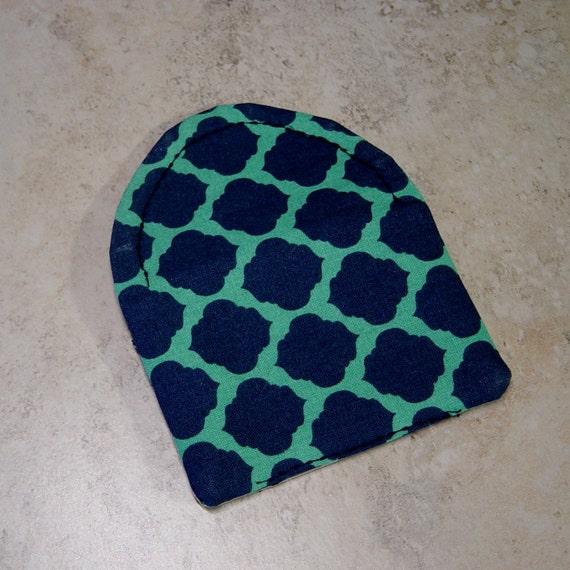 Cartes Daffaires Crdit Carte Sac Main En Tissu Bleu Marine Turquoise Quadrilobe De Visite