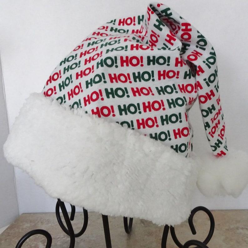 20149c9ea5fdf Ho Ho Ho Flannel Santa Hat Novelty Santa Hat Santa Hat