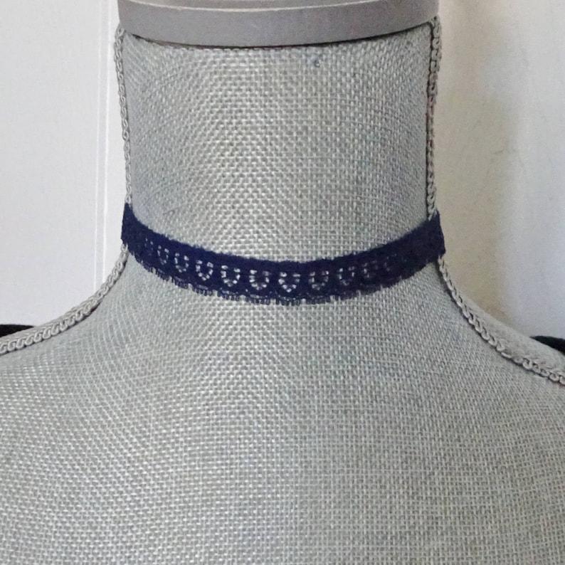 Boho Vintage Lace Choker Necklace Navy Blue Lace Choker Necklace Choker,Navy Blue Choker Necklace Costume Choker Hipster