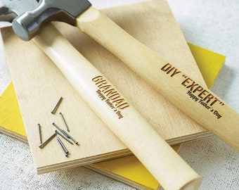 Christmas Personalised Hammer Gift - DIY Gift - Gifts for Men - Laser Engraved Hammer - Gifts for Dad - Dad Gift - DIY Expert - Father's Day
