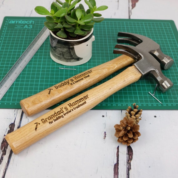 personalised hammer gift diy gift gifts for men laser etsy