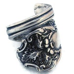 Art Nouveau Spoon Ring Strong and Mighty Size 6 7 8 9 10 11 12 Charter Oak Wrapped Ring
