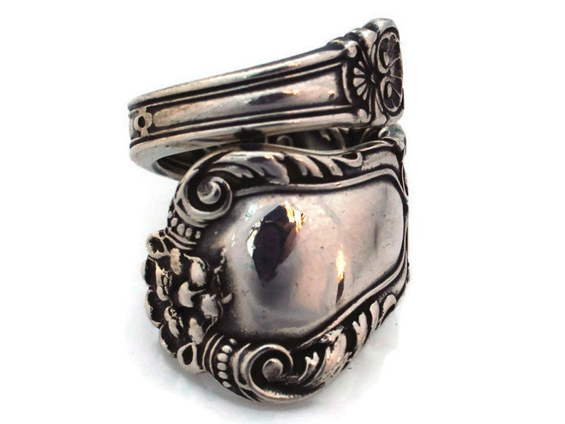 Sterling Silver Spoon Ring Old Baronial Lion Gorham Authentic image 0
