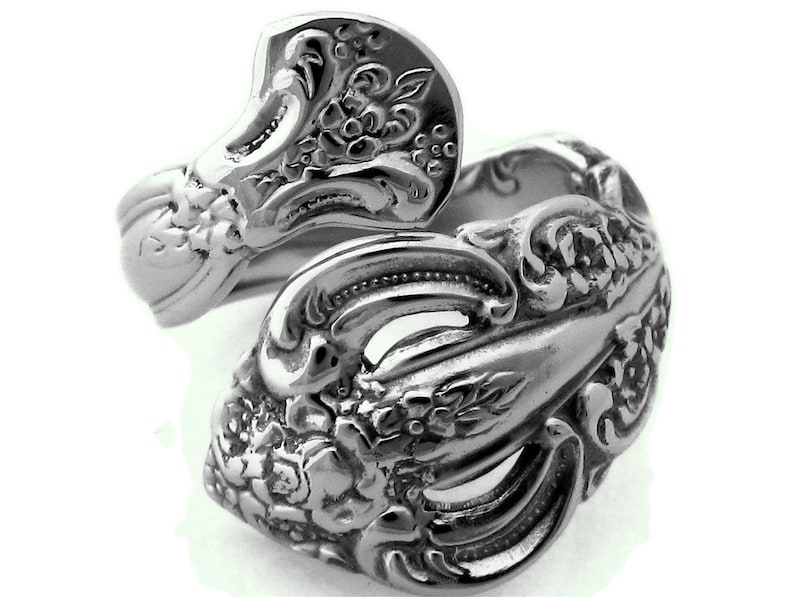 Wrapped Spoon Ring Michelangelo Stainless Steel image 0