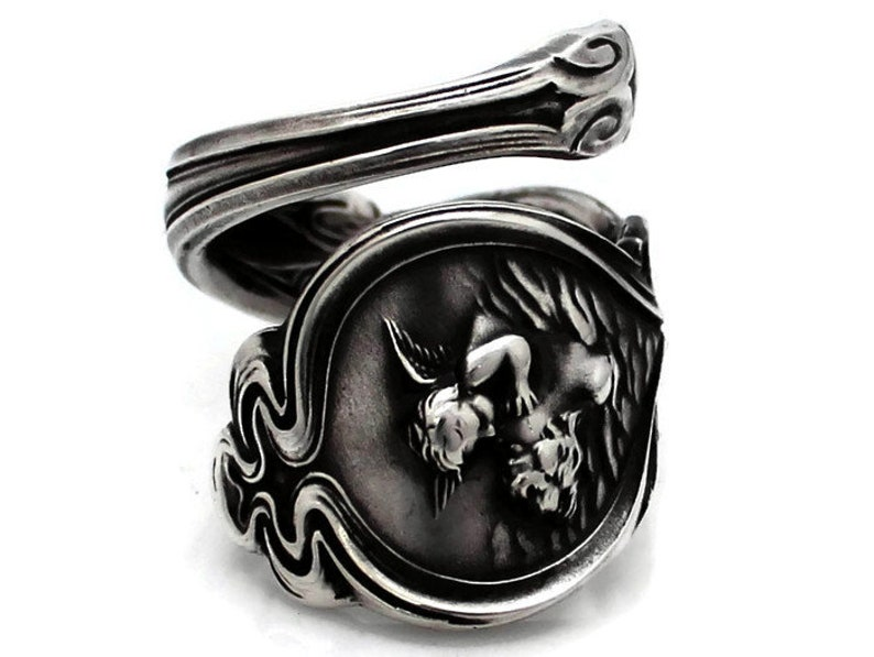 Sterling Spoon Ring Loves Dream by Unger image 0