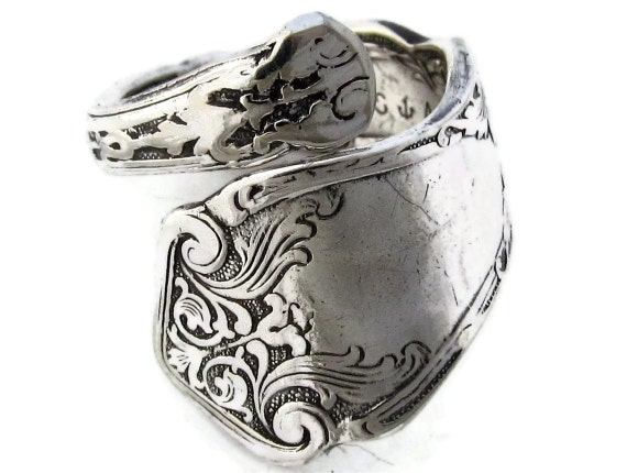 Spoon Ring Alhambra Pattern Demitasse Size 5 to 7 | Etsy