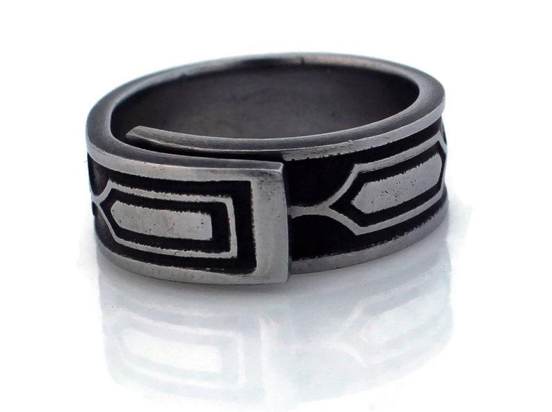 Spoon Ring Stainless Steel Montezuma image 0