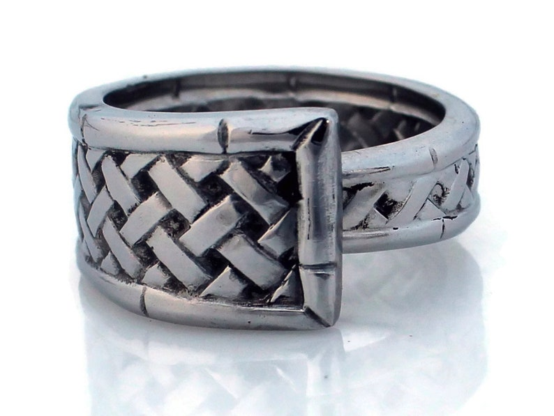Stainless Steel Spoon Ring Bamboo image 0