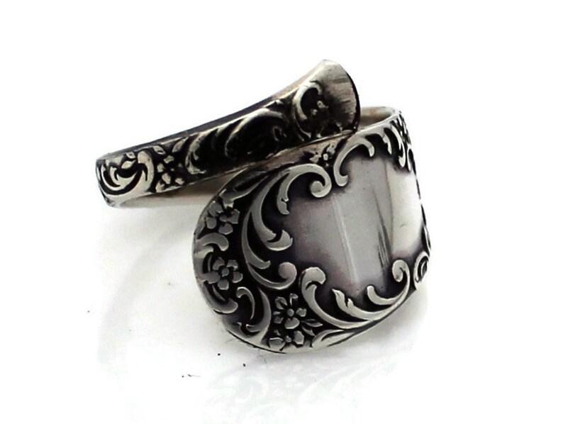 Spoon Ring Sterling Silver 1899 Gorham Douglas Demitasse image 0
