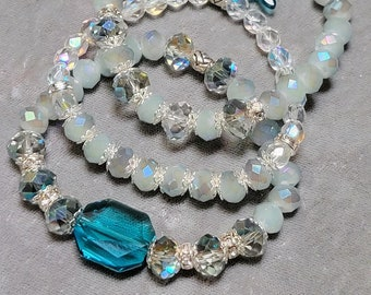 Stretch Beaded Bracelet-Beaded Stacked Bracelet Set-Stretch Bracelets-Stack Bracelets-Swarovski Crystals Bracelet-Faceted Crystals-SRAJD
