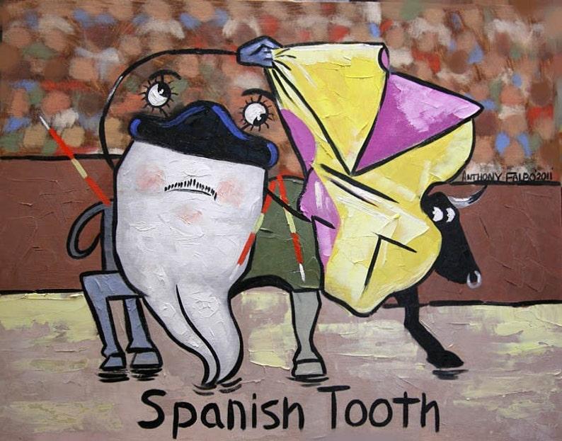 Spanish Tooth Dental Office Dental Art Dentist Canvas Print Stretched  Anthony R Falbo