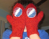 Warm Red Grateful Dead Steal Your Face Mittens
