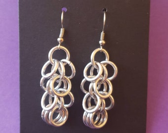 Shaggy Loops Dangle Chainmaille Earrings