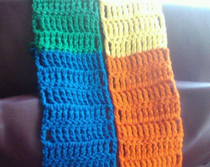 rainbow pride block scarf