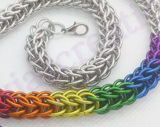 Rainbow Chainmaille Full Persian Necklace