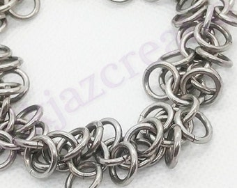 Silver Aluminum Chainmaille Shaggy Loops