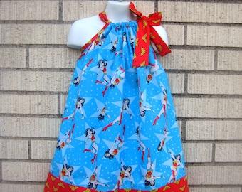 Wonder Woman Pillowcase Dress, Sizes 3M  up to 8 years