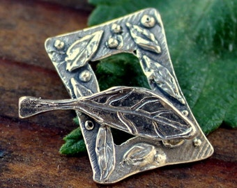 Toggle Leaf Sterling Silver Artisan /T167